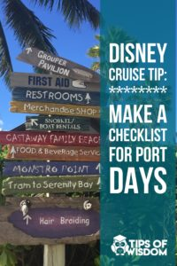 Be prepared for Disney Cruise Port Days