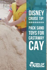 Pack Sand Toys for Castaway Cay