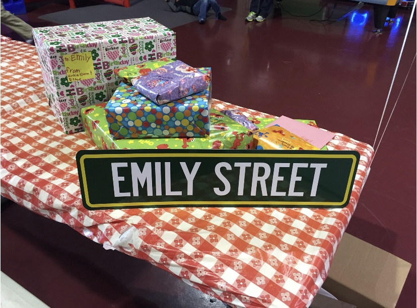 Custom street sign for Sesame Street themed birthday using Elmo's World for the birthday party theme.