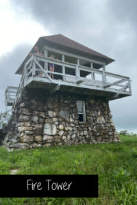 Hike the 1.7 mile mountain trail up to the fire tower near Shady Lake in the Ouachita National forest in Arkansas.