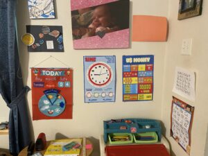Homeschool Student learning area.