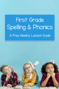 Spelling words for first graders that teach phonics and handwriting practice for first graders.