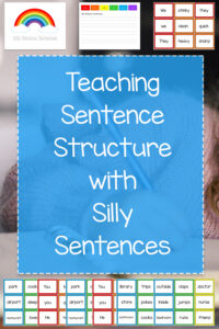 Silly Rainbow Sentences Activity - Teaching Sentence Structure in First Grade