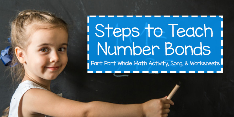 Teaching Number Bonds, Part Part Whole Song, Activity, and Worksheets