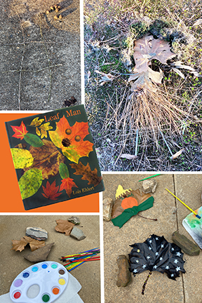 Leaf Man Lesson Plans for Preschool, Kindergarten, First Grade, Fall Craft Ideas using leaves