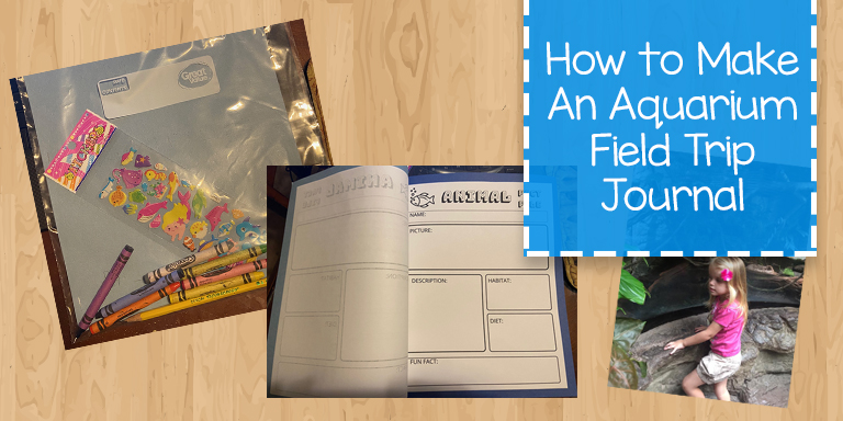 Ideas for making an aquarium journal for your field trip to the aquarium.