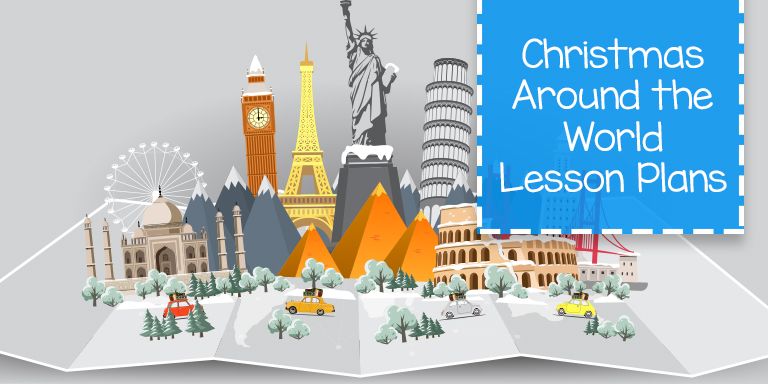 Christmas Around the World first grade lesson plans for homeschool.