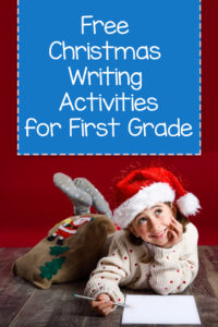 Christmas writing activities for first graders with read alouds.